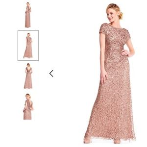 Rose Gold Sequin Adrianna Papell Dress